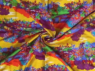 """3 Yards Exquisite Silk Fabric for Blouse or Dress 36.5"""" Wide. Vibrant Colors!"""