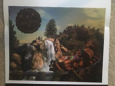 WDW 2014 New Fantasy Land Opening Mine Train 3D Lithograph Lenticular Print