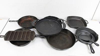 Lot Of 9 Cast Iron Cookware - Mixed