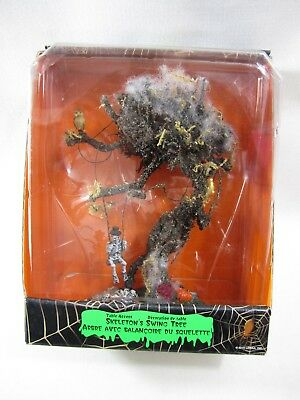 2010 Lemax Spooky Town Halloween Table Accent Skeleton's Swing Tree BRAND NEW