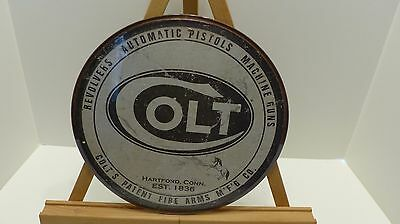 Colt Round Logo 12 Inch, Metal Sign, This Is A Nice Addition For Man Cave
