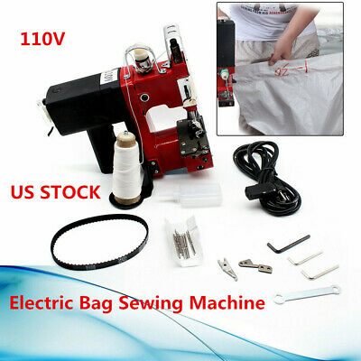 Industrial Bag Closer Sack Closing Stitching Sewing 0-6mm Machine+10*needle USA