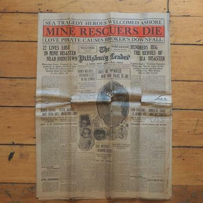 Antique Pittsburg Leader January 26 1909 Newspaper Pittsburgh