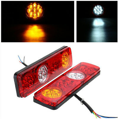 Multi-function Truck Rear Tail Lights Different Wire Connection 3 Colors Display