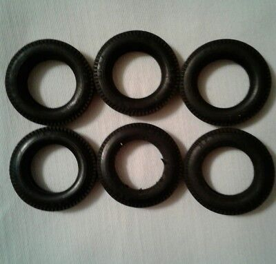 Lot of 6 Hess Toy Truck Rubber Tires.
