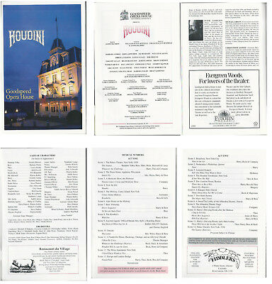 Houdini Musical Program-1997-Goodspeed Opera House-East Haddam CT--Op