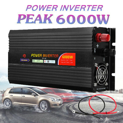 1000-8000W Solar Power Inverter DC 12/24V to AC 110/220V USB Sine Wave Converter