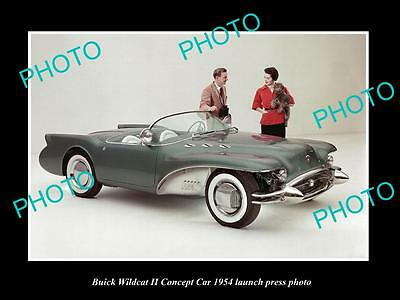 Old Large Historic Photo Of 1954 Buick Wildcat Concept Car Launch Press Photo 2