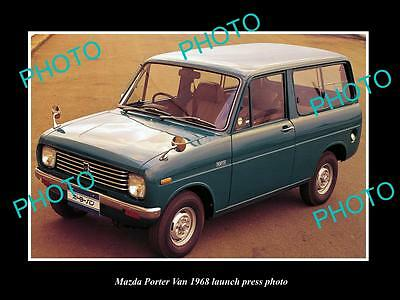 Old Large Historic Photo Of 1968 Mazda Porter Van Model Launch Press Photo