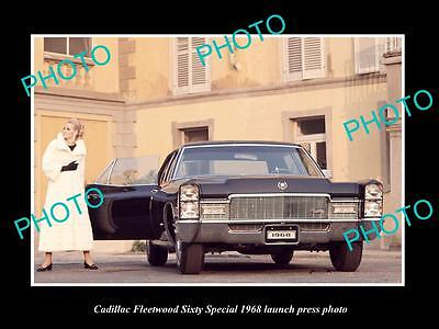 Old Historic Photo Of 1968 Cadillac Fleetwood Sixty Special Launch Press Photo