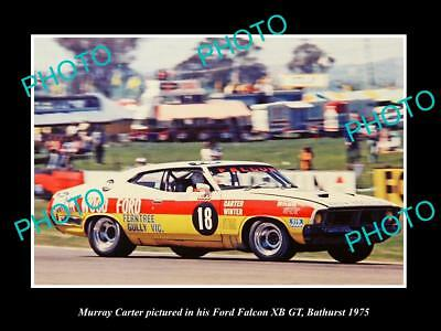 Old Historic Motor Racing Photo Of Murray Carter Ford Falcon Xb Gt Bathurst 1975