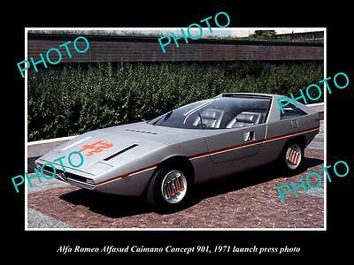 Old Large Historic Photo Of 1971 Alfa Romeo Alfasud Caimano Launch Press Photo 2