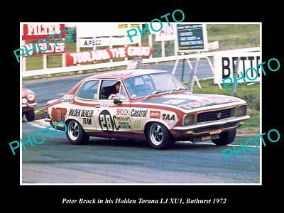 Old Historic Motor Racing Photo Of Peter Brock Holden Torana Xu1 Bathurst 1972