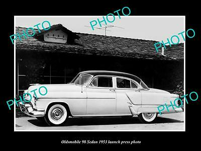 Old Large Historic Photo Of 1953 Oldsmobile 98 Sedan Launch Press Photo