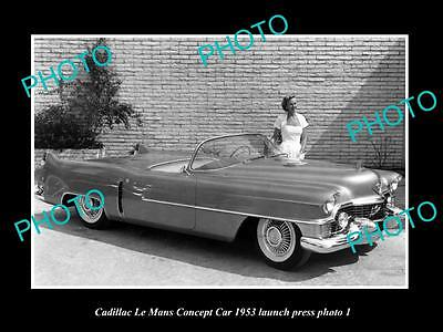 Old Large Historic Photo Of 1953 Cadillac Le Mans Concept Launch Press Photo 2
