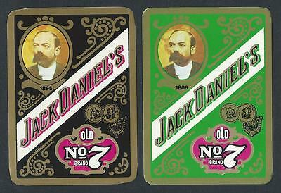 #100.757 vintage EXTRA WIDE swap card -NEAR MINT pair- Jack Daniel's Old No 7