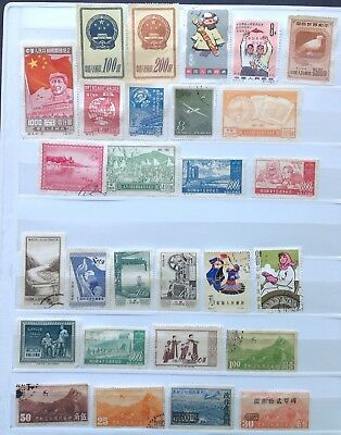 CHINA - 100+ Fine Used Stamps