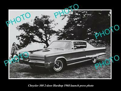 Old Large Historic Photo Of 1968 Chrysler 300 2-Door Launch Press Photo