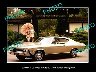 Old Large Historic Photo Of 1968 Chevrolet Chevelle Malibu Ss Launch Press Photo