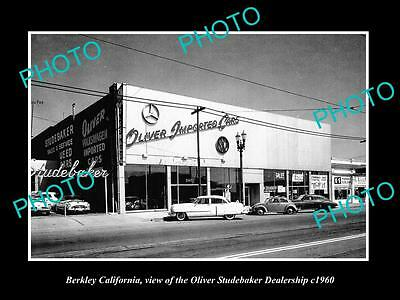 Old Large Historic Photo Of Berkeley California, The Studebaker Motor Store 1960