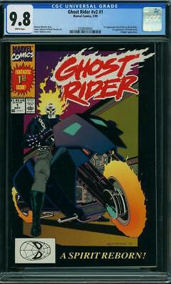 Ghost Rider #1 CGC 9.8 Marvel 1990 1st Deathwatch! Kingpin! Key Copper H5 332 cm