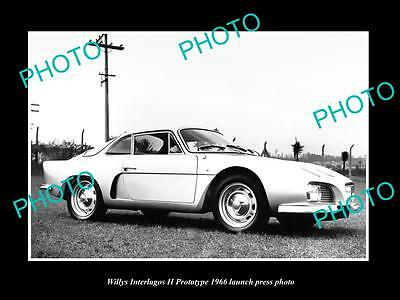 Old Large Historic Photo Of The 1966 Willys Interlagos Car Launch Press Photo 2