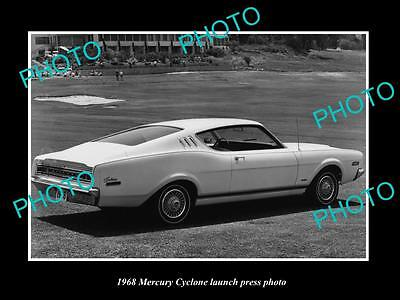 Old Large Historic Photo Of Mercury Cyclone 1968 Launch Press Photo 1