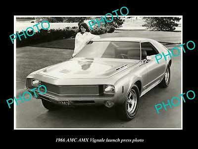 Old Large Historic Photo Of Amc Amx Vignale 1966 Launch Press Photo 1