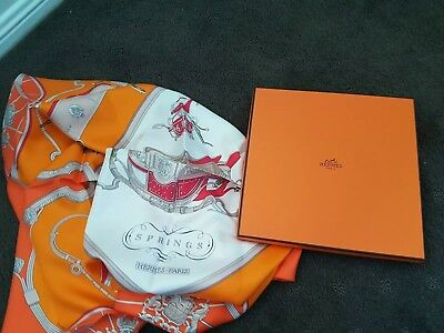 Hermes Brand New Women Silk Scarf, 90 Cms X 90 Cms, Springs