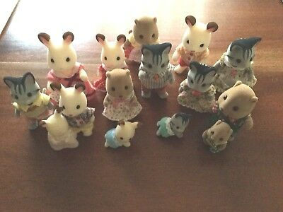 Sylvanian Families. Very Good Condition. 15 In Total. Kept On Display Only.