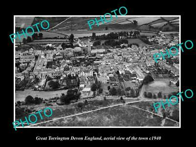 OLD LARGE HISTORIC PHOTO OF GREAT TORRINGTON ENGLAND, VIEW OF THE TOWN c1940 5