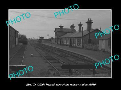 OLD LARGE HISTORIC PHOTO OF BIRR Co OFFALY IRELAND, THE RAILWAY STATION c1950