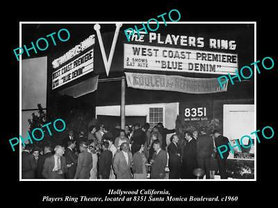 Old Large Historic Photo Of Hollywood California, The Players Ring Theatre 1960