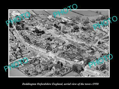 OLD HISTORIC PHOTO OF DEDDINGTON OXFORDSHIRE ENGLAND, VIEW OF THE TOWN c1950 2