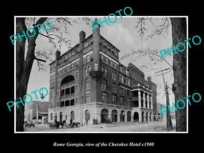 OLD LARGE HISTORIC PHOTO OF ROME GEORGIA, VIEW OF THE CHEROKEE HOTEL c1900