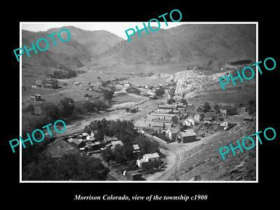 OLD LARGE HISTORIC PHOTO OF MORRISON COLORADO, VIEW OF THE TOWNSHIP c1900