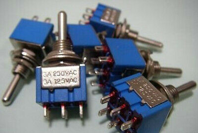 2pcs ON/ON/ON MiNi Toggle Switch Terminal Connection 3- Position DP3T for Effect