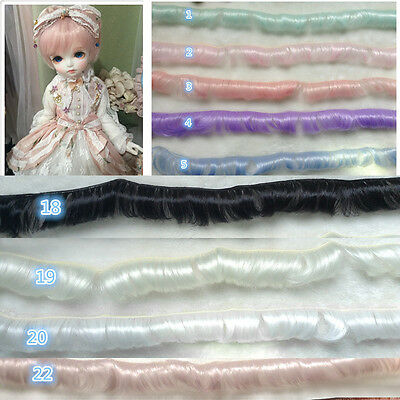 Fashion Doll's Wigs Long Curly Wigs Kids Children Toys 5cm Color #1 Hot.Pro