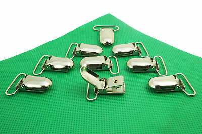 SILVER METAL BRACE DUMMY CLIPS HOLDER STRAP GRIPS CRAFTS for DUMMIES SOOTHERS