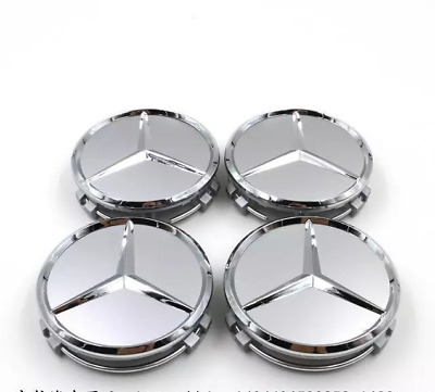 75mm Car Decoration Wheel Hub Center Caps Badge Fit For Mercedes-Benz ML R AMG