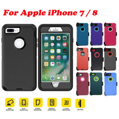 Defender Case for Apple iPhone 7 /  iPhone 8 with Screen(Belt Clip fit Otterbox)
