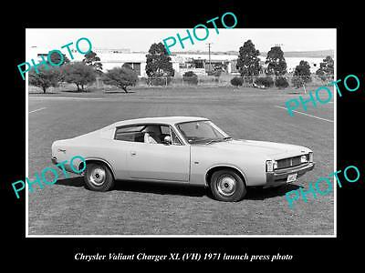 Old Large Historic Photo Of 1971 Vh Xl Chrysler Valiant Charger Press Photo 3