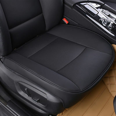 PU Leather Deluxe Car Front Cover Seat Protector Cushion Black Cover Universal