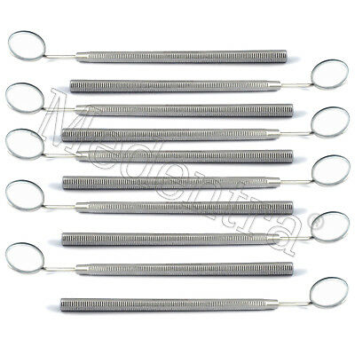 10Pcs Dentistry Hygienist Examination Tools Dental Mouth Mirror with Handle Lab