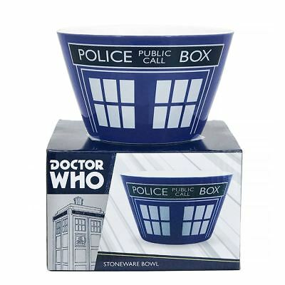 New Doctor Who TARDIS Boxed Stoneware Bowl Time Lord Cereal Breakfast Official