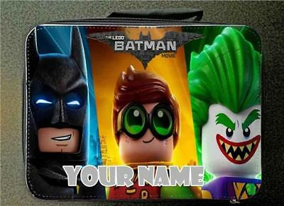 Black Personalised Lego Batman Insulated School Lunch Bag