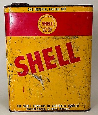 Vintage Shell Sirombus? Oil K77 One Imperial Gallon Tin