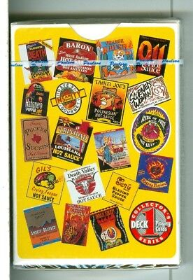 """Non-Standard Sealed Deck, """"Hot Sause""""  Playing Cards, Firefood Specialties, Ltd."""