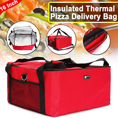 "PIZZA DELIVERY BAG (Size 16"" X 16"" X 9"") FULL INSULATED ALL SIDES KEEP IT WARM"