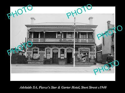 OLD LARGE HISTORICAL PHOTO OF ADELAIDE SA, STAR & GARTER HOTEL, STURT St 1940